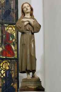 Statua lignea che si venera nella Cappella di Santa Grania, nella Chiesa di Santo Stefano in Capraia F.na